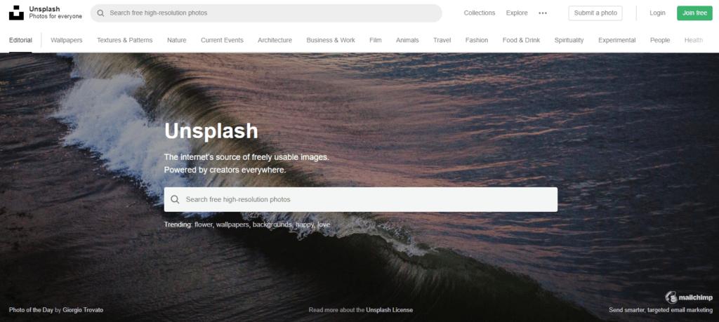 Stock Images for Websites-Unsplash